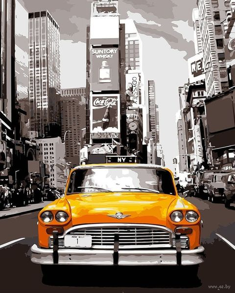 """Картина по номерам """"Ретро такси"""" (400х500 мм) — фото, картинка"""