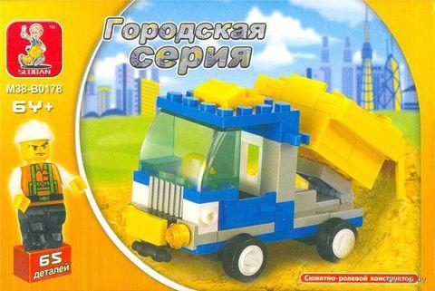 """Конструктор """"Грузовик с фигуркой"""" (65 деталей)"""