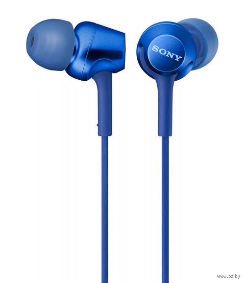 Наушники с микрофоном Sony MDR-EX255AP (синие) — фото, картинка