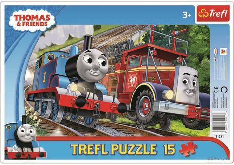 """Пазл-рамка """"Томас и Флинн"""" (15 элементов) — фото, картинка"""