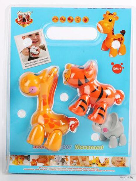 """Набор музыкальных игрушек """"Тигр и жираф"""" (со звуковыми эффектами)"""