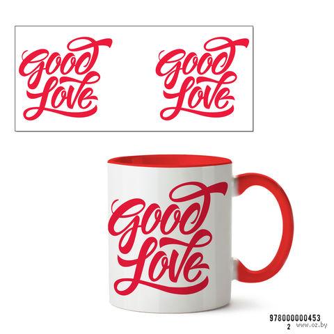 """Кружка """"Good Love"""" (арт. 453, красная)"""