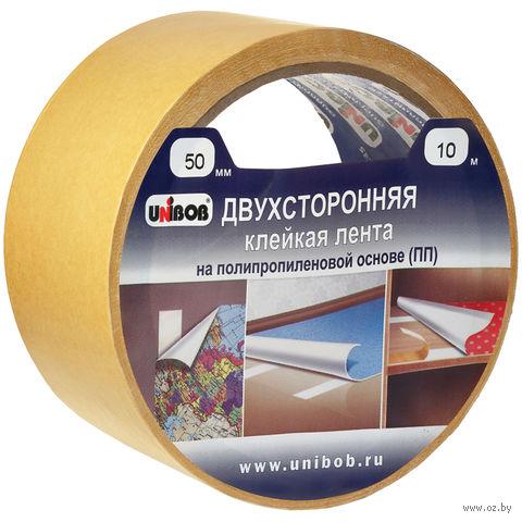 Клейкая лента двухсторонняя на полипропиленовой основе (50 мм x 25 м)