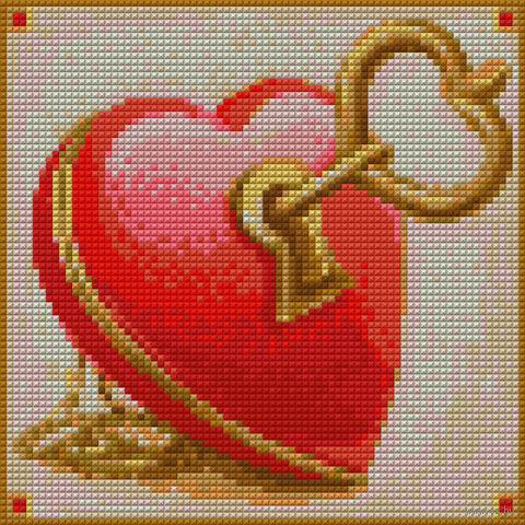 "Алмазная вышивка-мозаика ""Ключ от сердца"" (200x200 мм) — фото, картинка"
