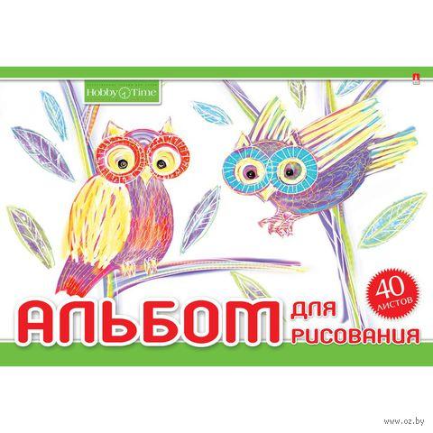"""Альбом для рисования """"Хобби Тайм"""" (А4; 40 листов; в ассортименте) — фото, картинка"""