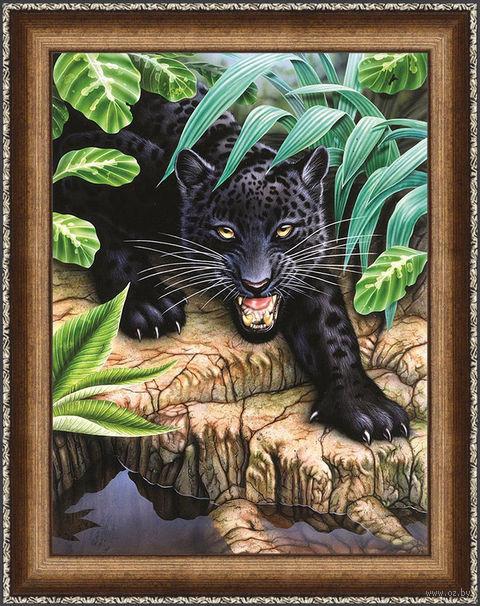 """Алмазная вышивка-мозаика """"Черная пантера"""" (300х400 мм) — фото, картинка"""