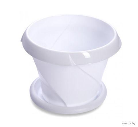"""Цветочный горшок """"Флориана"""" (10 см; белый) — фото, картинка"""