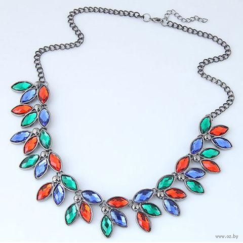Ожерелье с камнями (арт. 51413) — фото, картинка