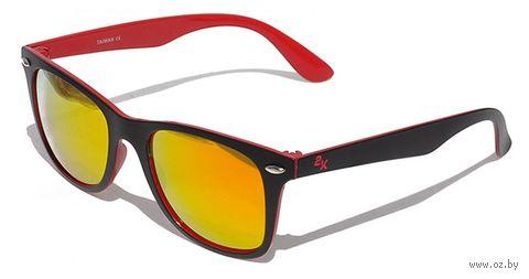 """Очки солнцезащитные """"F-15025-B6"""" (чёрно-красные) — фото, картинка"""