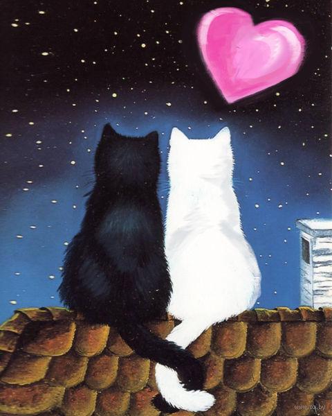 "Алмазная вышивка-мозаика ""Кошачья романтика"" (200x250 мм) — фото, картинка"