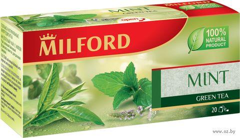 """Чай зеленый """"Milford. С мятой"""" (20 пакетиков) — фото, картинка"""