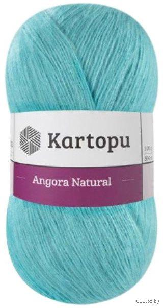 "Пряжа ""KARTOPU. Angora Natural №К1512"" (100 г; 530 м; светло-бирюзовый) — фото, картинка"