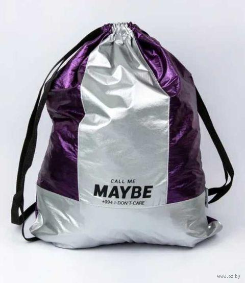 """Рюкзак-мешок """"Maybe"""" (арт. ZKBW-0051) — фото, картинка"""