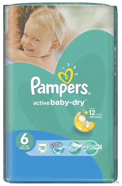 "Подгузники ""Pampers Active Baby-Dry Extra Large"" (15+ кг, 16 шт)"