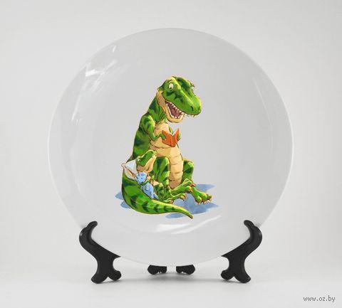 """Тарелка """"Динозавры"""" (арт. 975) — фото, картинка"""