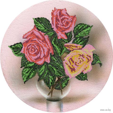 """Канва с нанесенным рисунком """"Розы на холсте"""""""