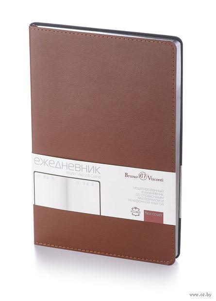 """Ежедневник недатированный """"Grand"""" (А5; коричневый) — фото, картинка"""