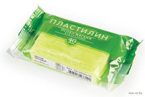Пластилин особо мягкий кукурузный (40 г; желтый неоновый) — фото, картинка