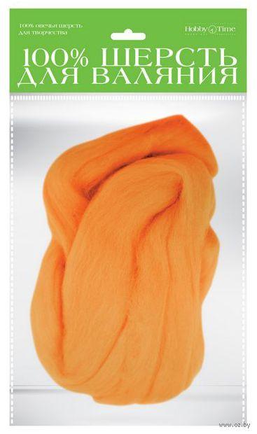 Шерсть для валяния (апельсин; 50 г) — фото, картинка