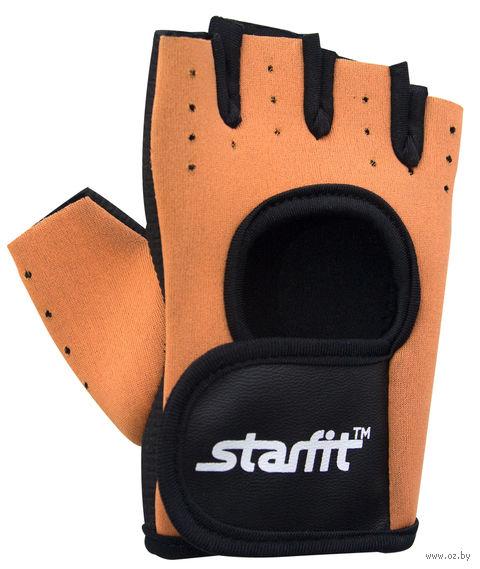 Перчатки для фитнеса SU-107 (S; песочные/чёрные) — фото, картинка