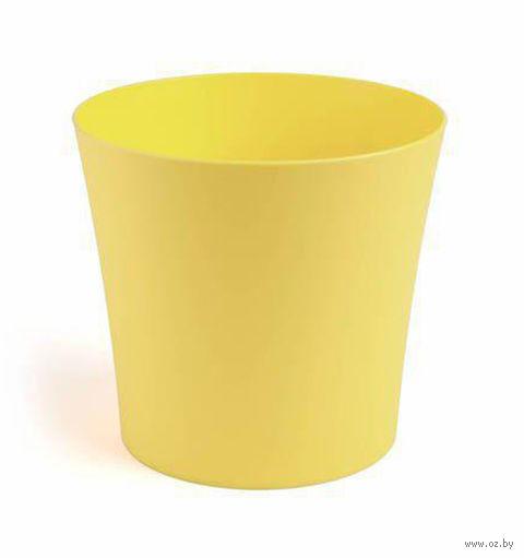 "Кашпо ""Фиалка"" (10 см; желтое) — фото, картинка"