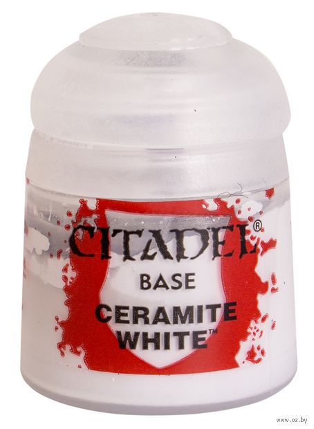 "Краска акриловая ""Citadel Base"" (ceramite white; 12 мл) — фото, картинка"