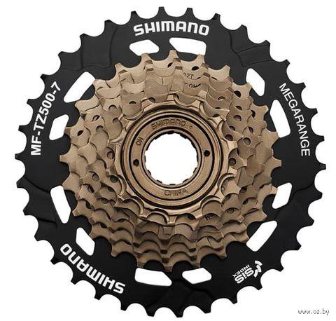 Трещотка для велосипеда TZ500 (7 скоростей; звёзды 14-34) — фото, картинка