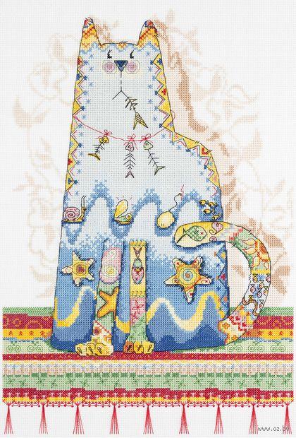 """Вышивка крестом """"Сказка о рыбаке и рыбках"""" (280х400 мм) — фото, картинка"""