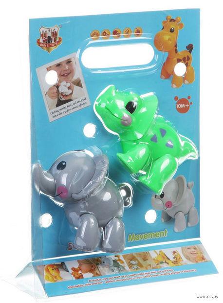 """Набор музыкальных игрушек """"Слон и динозавр"""" (со звуковыми эффектами)"""