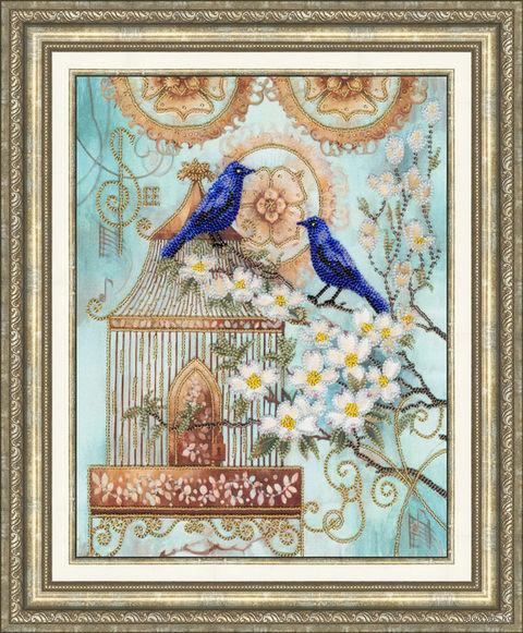 """Вышивка бисером """"Синие птицы счастья"""""""