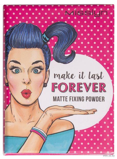 "Компактная пудра для лица ""Matte Fixing Powder"" (тон: прозрачный) — фото, картинка"