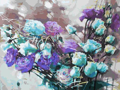 """Картина по номерам """"Ноктюрн с розами"""" (300х400 мм) — фото, картинка"""