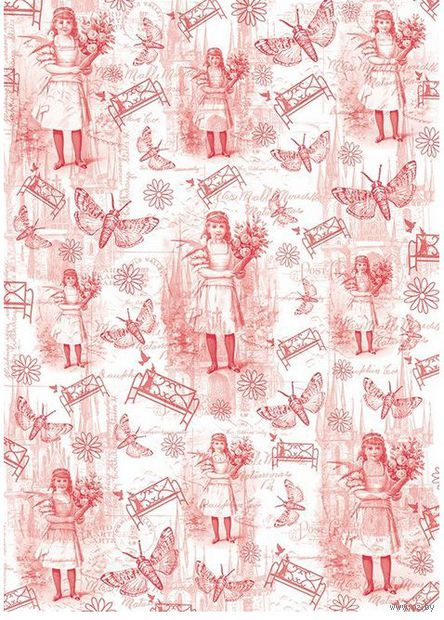 """Пленка-оверлей """"Детство. Винтажные гравюры"""" (210х300 мм)"""