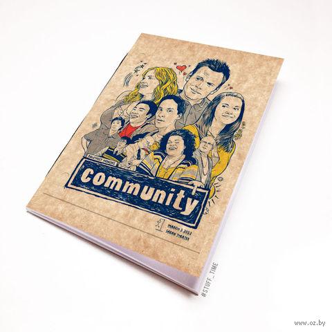 "Блокнот крафт ""Community"" (А7; арт. 129) — фото, картинка"