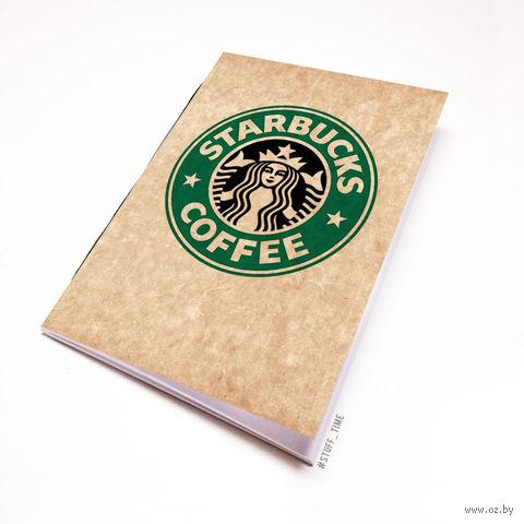"""Блокнот крафт """"Старбакс кофе"""" А6 (504)"""