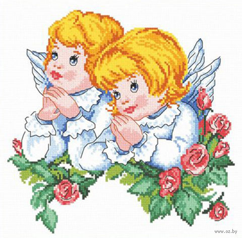 """Вышивка крестом """"Ангелочки"""""""