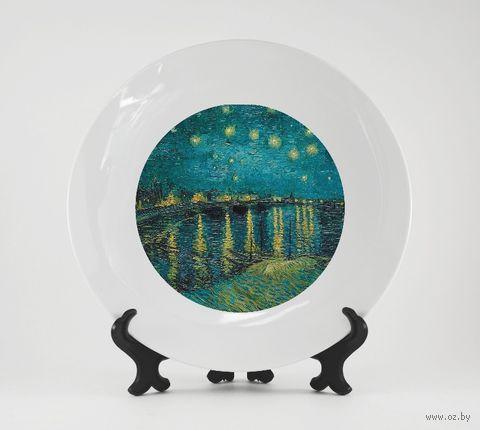 "Тарелка ""Ван Гог. Звездная ночь над Роной"" (арт. 982)"