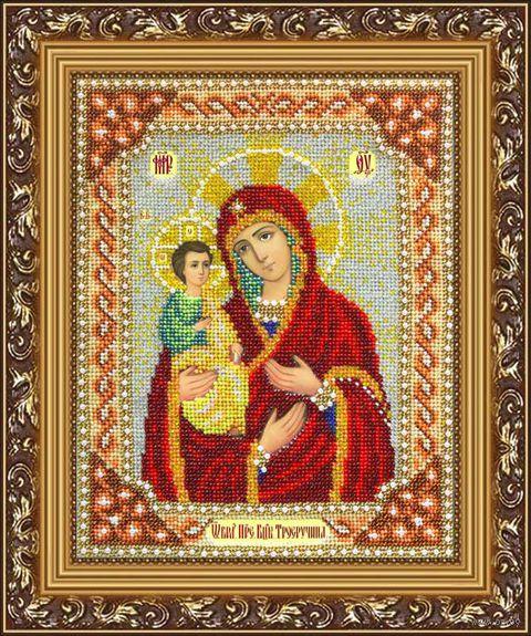 "Вышивка бисером ""Пресвятая Богородица Троеручица"" (200х250 мм) — фото, картинка"