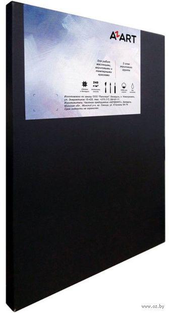 """Холст на подрамнике """"AZART"""" (40х50 см; чёрный; акриловый грунт; арт. AZ224050) — фото, картинка"""