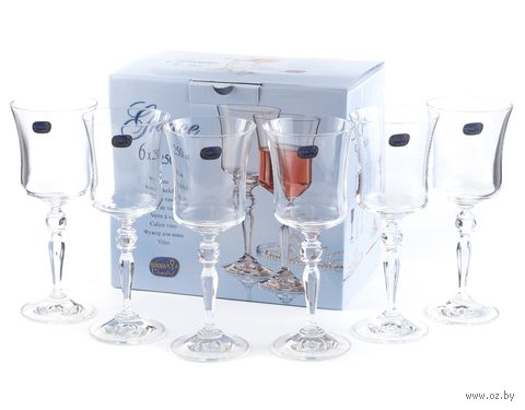 "Бокал для вина стеклянный ""Grace"" (6 шт.; 250 мл) — фото, картинка"