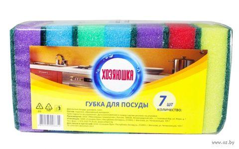 Губка для мытья посуды (7 шт.; 87х58х26 мм) — фото, картинка