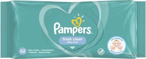 """Влажные салфетки детские """"Pampers Fresh Clean"""" (56 шт.) — фото, картинка"""