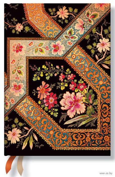 """Записная книжка Paperblanks """"Филигранный цветочный рисунок"""" в линейку (черное дерево, 130*180 мм)"""