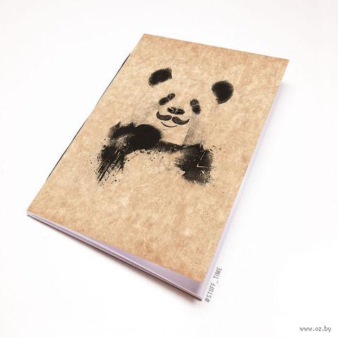 """Блокнот крафт """"Панда с усами"""" А6 (506)"""