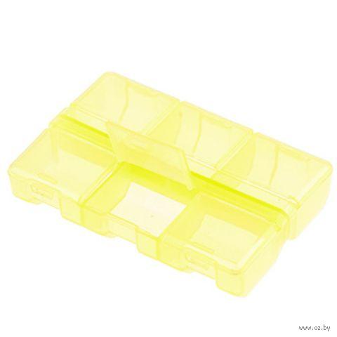 Органайзер для рукоделия (желтый; 6 отделений) — фото, картинка