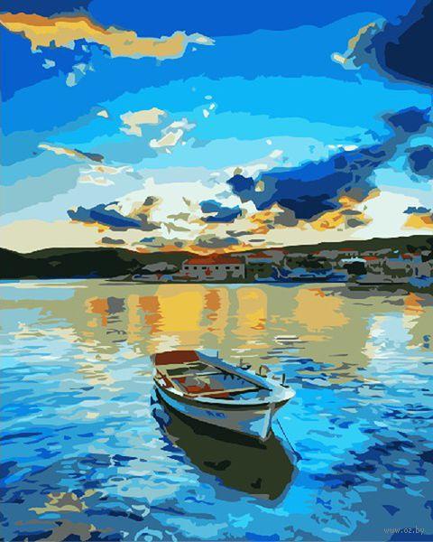 """Картина по номерам """"Закат на озере"""" (400х500 мм) — фото, картинка"""