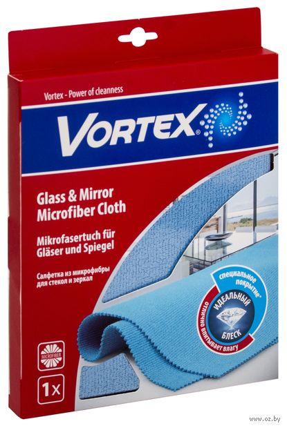 "Салфетка для уборки стекол и зеркал ""Vortex"" (350х400 мм) — фото, картинка"