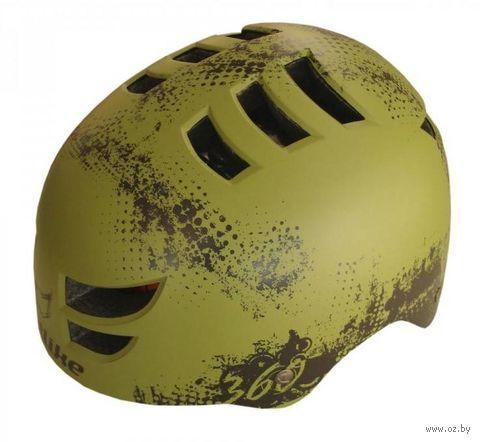 """Шлем велосипедный """"360°"""" (хаки) — фото, картинка"""