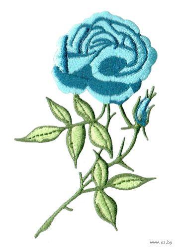 "Термоаппликация ""Голубая роза"" — фото, картинка"