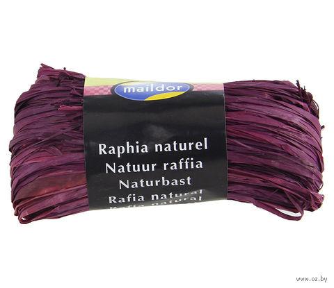 """Подарочная лента """"Natural Raffia"""" (лиловая)"""